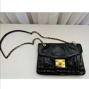 Aldo Faux Python Black Shoulder Bag/Clutch